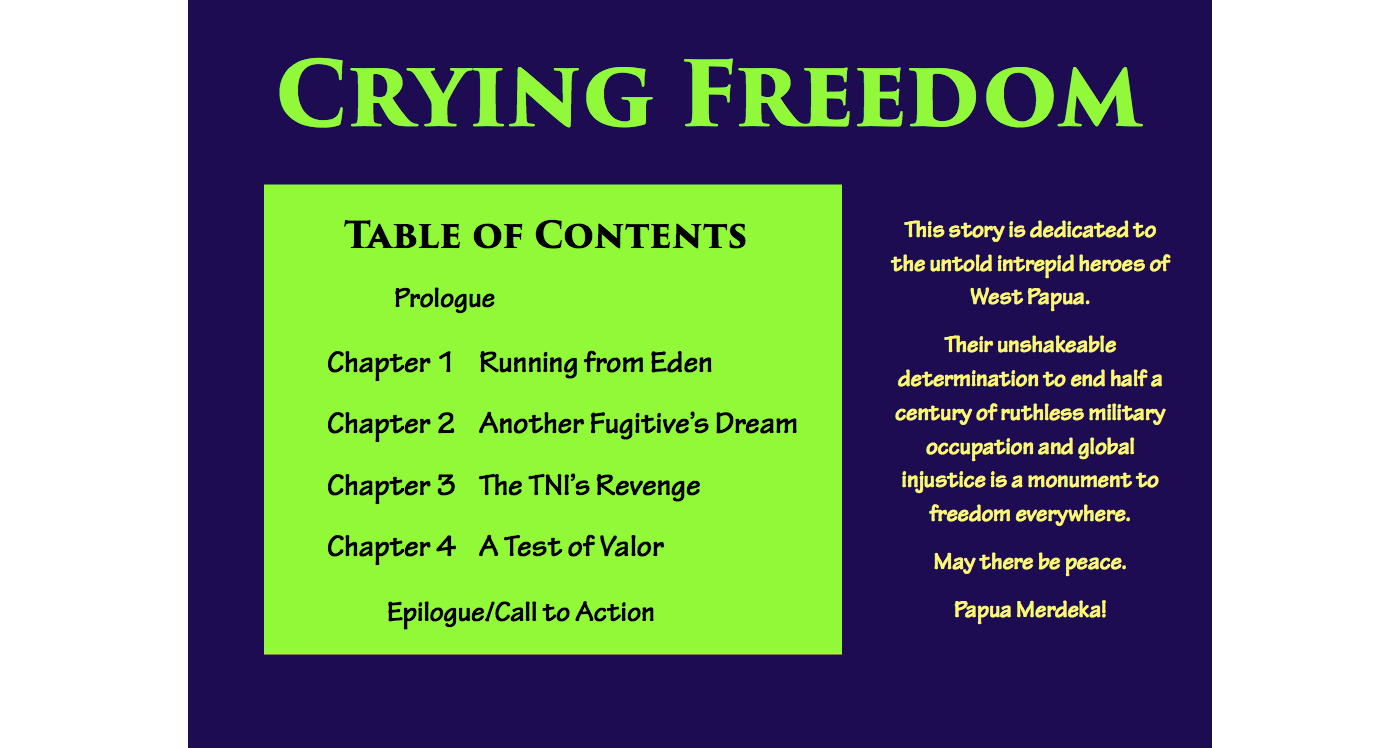 Crying Freedom Table of Contents